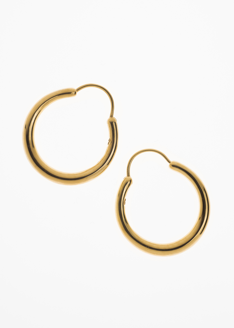 Snake earrings large thin