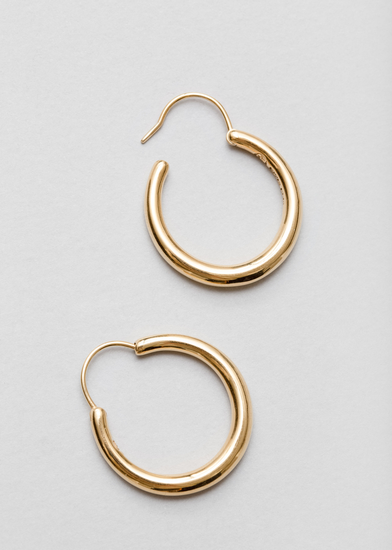 Snake earrings large thin
